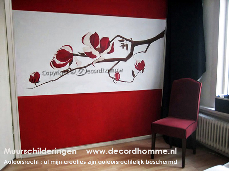 Decordhomme muurschilderingen design decoratieve abstracte